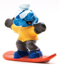 20452 Snowboarder Snowboard 1A PUFFO PUFFI SMURF SMURFS SCHTROUMPF