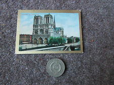 PAN HANDLE  SCRAP  Sights & Scenes Cathedral of NOTRE DAME  Tobacco Card 1911-12