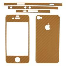 adesivo in fibra di carbonio gold oro iPhone 4 4S