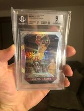 2015 2016 PRIZM LEBRON JAMES SILVER REFRACTOR BGS 9 W 9.5s GET NOW!