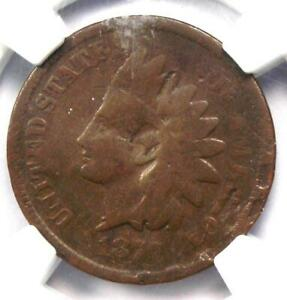 1877 Indian Cent 1C Coin - NGC VG Details - Rare Key Date - Certified Penny!