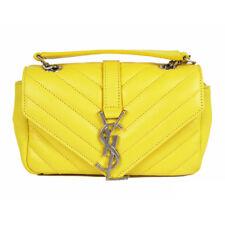 dd790633c00 NEW $1,550 SAINT LAURENT Yellow Leather YSL LOGO MONOGRAMMED Mini Crossbody  BAG