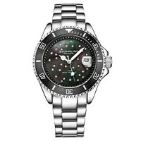 Stuhrling Women's Diver 3977 Crystal Studded Colored Dial 100 Meter water Resist