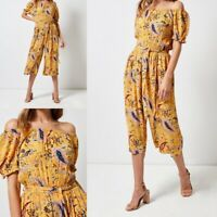 NEW RRP £28 Ex Dorothy Perkins Yellow Paisley Print Jumpsuit