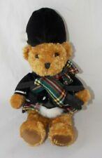 Harrods Knightsbridge Teddy Bear Plush Scottish Bagpipes Tartan Brown 10�