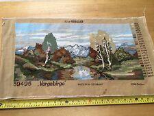 """Habilement rempli de riz-gobelin paysage Tapisserie Panneau 24"""" X 12"""" - vorgebirge"""
