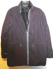 FS LIMITED womens plum zip-front fleece lined coat jacket size S