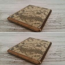 Vintage Reptile/Snake Print, Slim and compact, Metal Cigarette Case.