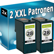 2x inchiostro patonen per LEXMARK 28 28a 34-xl x5490 x5495 z1300 z1310 z1320 z845
