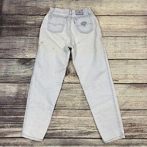 Vintage Levis Women's High Waisted Native Blue Mom Jeans Light Wash 90s Sz 11
