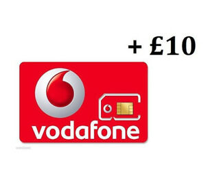 VODAPHONE SIM CARD | Pay as you go with £10 credit preloaded, all Phones