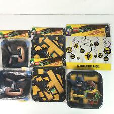 Lego The Batman Movie Birthday Party Banner Decorations Masks Plates Boys New