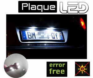 Pour Suzuki SPLASH -  2 Ampoules LED Blanc Plaque immatriculation anti erreur