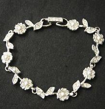 SWAROVSKI Flowers in Rhinestones & Pearls Bracelet