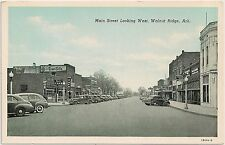 Main Street Looking West in Walnut Ridge AR Postcard