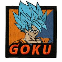 "Super Saiyan Goku Dragon Ball Z Embroidered Iron//Sew ON Patch Applique 3.5""x2"""