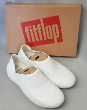New Fitflop Superloafer Leather Urban White Loafer Ladies Flat Shoes Box Size 8