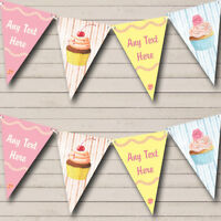 Pastel Cupcake Cake Baking Personalized Childrens Party Bunting Banner