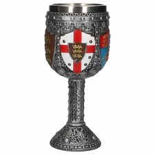 English Goblet  / Medieval Goblet  /  St George - Three Lions /  Nemesis Now