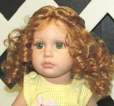 "Doll Wig Monique ""Laura"" size 10/11 in Lt Ginger - fits Tonner Katie"