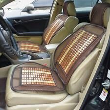 2pcs Wooden Beads Car Seat Mesh Cover Cushion Pad Massage for Home Office Chair
