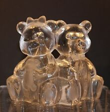 Nursery / Kids Room Decorative Crystal Bears Tea Light Holder - New
