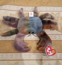 """*RARE* Ty Beanie Baby w/ERRORS - """"Claude"""" Crab - MWMT and Tag Protector"""