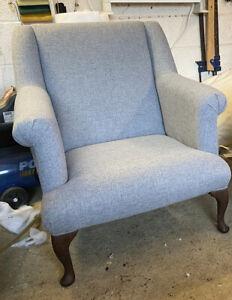 New  Grey Superb Stunning Hand Made Laura Ashley Styl Chair