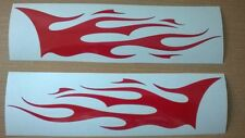 XLARGE red flames x2 vinyl graphics car side stickers decal tribal racing rally