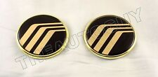 MERCURY GRAND MARQUIS 24KT GOLD PLATED SIDE BADGE-2 PCS