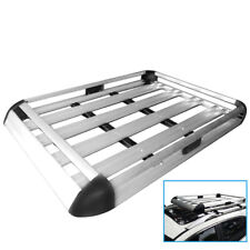 Double Layer Tray Cage Aluminum Car Roof Basket Travel Luggage Rack Carrier