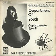 ALICE COOPER DEPARTMENT OF YOUTH SPAIN original picture sleeve Heavy Metal glam