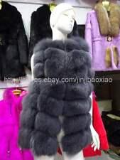 High quality thick Farm Real Fox fur Vest Waistcoat Gilet Jacket Coats bust100cm