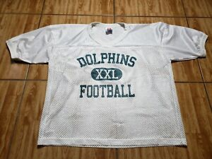 Vintage Miami Dolphins Practice Football Jersey Adult XL White NFL Mens
