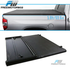 Fits 07-13 Chevy Silverado Sierra 5.8ft Bed Black Vinyl Tri-Fold Tonneau Cover