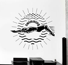 Vinyl Wall Decal Swimming Swimmer Sport Stickers Mural (ig4227)
