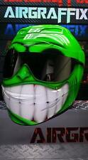 Custom Painted Smiling Face Helmet Airbrushed by AirGraffix