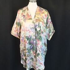 Victorias Secret Silk Floral Kimono Robe Cover-up Wear With Jeans One Size