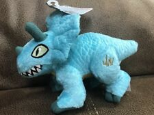 "Jurassic World Movie 8"" Stuffed Plush Triceratops Dino Blue Dinosaur Toy"