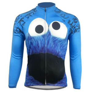 Cookie Monster Sesame Street Long Sleeve Cycling Jersey