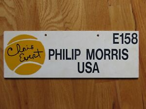 Rare CHRIS EVERT Philip Morris USA E158 Tennis Parking Marker Sign US OPEN?