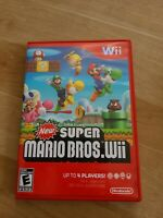 New Super Mario Bros. Wii (Wii, 2009) - Complete In Box - CIB - Tested See Pics!