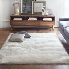 3' x 5' Faux Sheepskin Area Rug Shag Soft Comfort Modern Stylish Rectangle White
