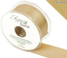 Eleganza Satin Double Sided Faced Quality Craft Ribbon Roll Reel Decoration Cake 50mm X 20m Gold