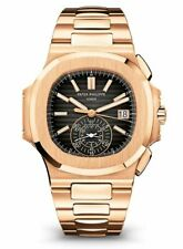 Patek Philippe NEW Nautilus Chronograph 18k Rose Gold Watch Box/Papers 5980/1R
