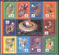 France 1997 Football/World Cup/WC/Sports/Games/Soccer/Animation 10v sht (n43820)