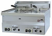 Modular Gas Fritteuse Friteuse 2 Becken 8 + 8 L 13,57 kW 600x600x280mm Gastlando
