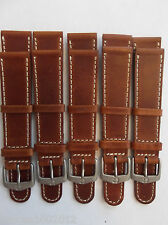 """19MM**LOT OF 5 WENGER, SWISS ARMY, EDDIE BAUER SPORT WATCHBAND**7 1/2"""" *LEATHER*"""