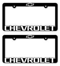 (2)  CHEVROLET-License Plate Frame-Z71-TAHOE-CAMARO-COLORADO-SUBURBAN-TRAVERSE