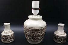 Retro 1970/80's 13.5cm Purbeck Studio Pottery Lamp & Pair of Matching 9cm Vases